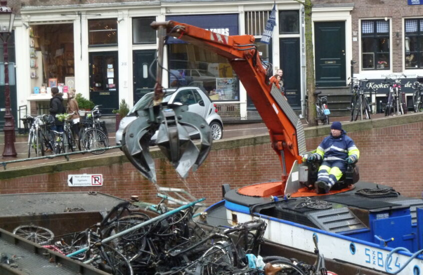 Recovering Bikes from Amsterdam's Canals