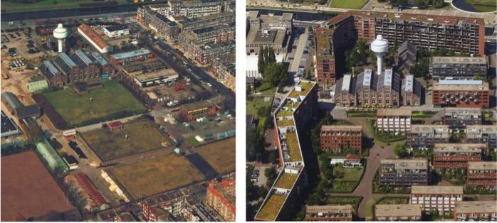 GWL Terrain site before and after development (Source: GWL Terrein Fact Sheet)
